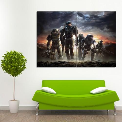 โปสเตอร์ ขนาดใหญ่ เกมส์ Halo ฮาโล
