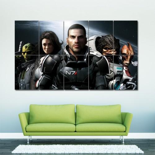 โปสเตอร์ ขนาดใหญ่ เกมส์ Mass Effect แมส เอฟเฟค