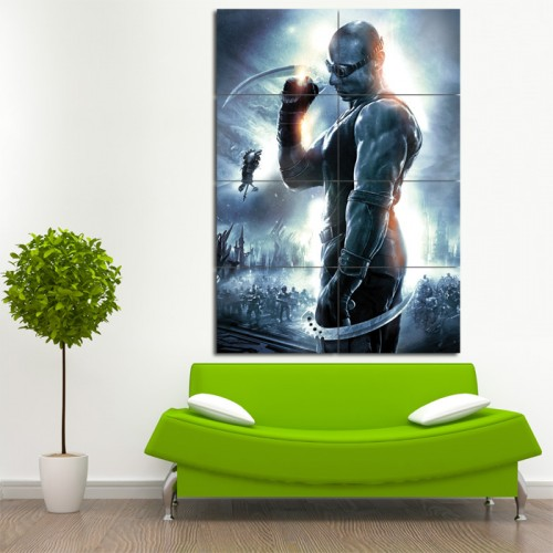 The Chronicles of Riddick Block Giant Wall Art Poster