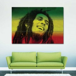 Bob Marley Block Giant Wall Art Poster (P-0027)