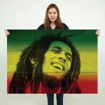 Bob Marley Block Giant Wall Art Poster