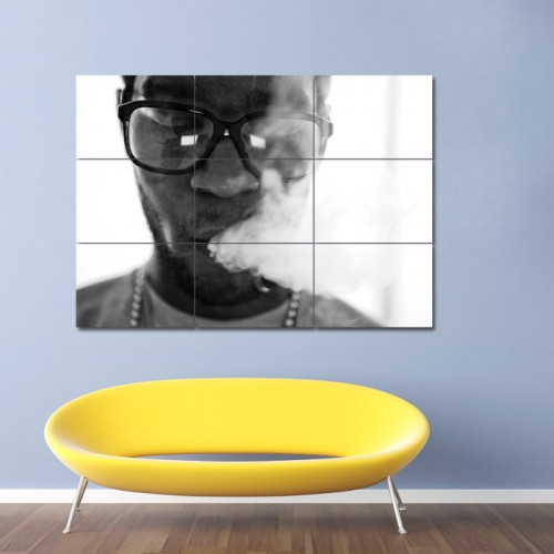 Kid Cudi Smoking Block Giant Wall Art Poster