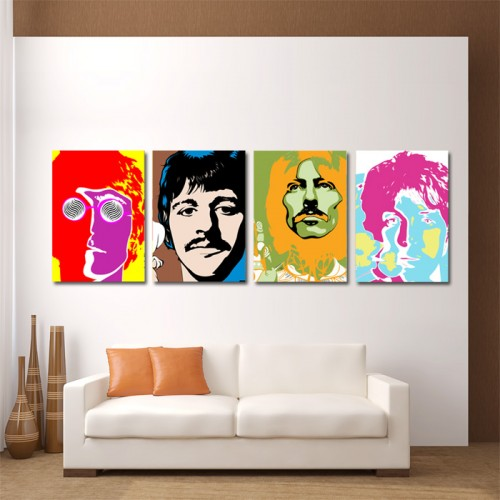 The Beatles Music Block Giant Wall Art Poster