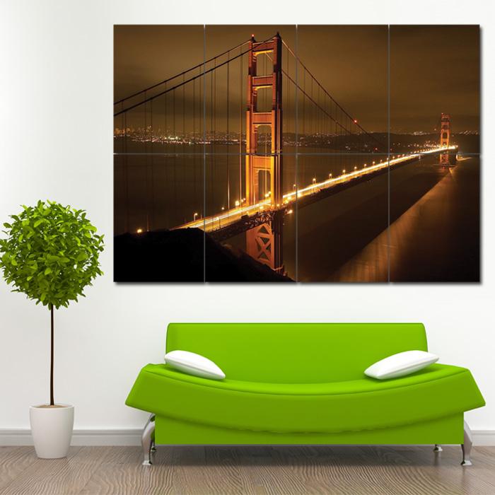 san francisco 39 s golden gate block giant wall art poster. Black Bedroom Furniture Sets. Home Design Ideas