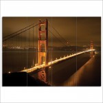 San Francisco's Golden Gate Block Giant Wall Art Poster