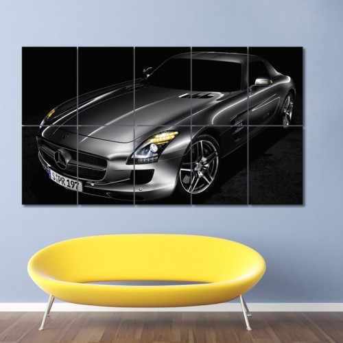 Mercedes-Benz SLS AMG Block Giant Wall Art Poster