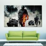 โปสเตอร์ ขนาดใหญ่ เกมส์ แบทเทิลฟิลด์ แบด คอมปานี Battlefield  Bad Company