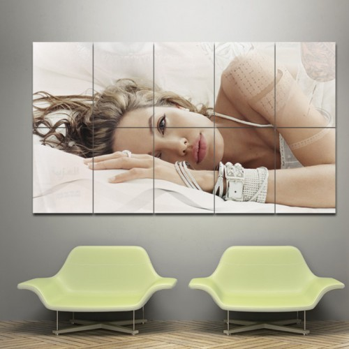 Sexy Angelina Jolie Block Giant Wall Art Poster