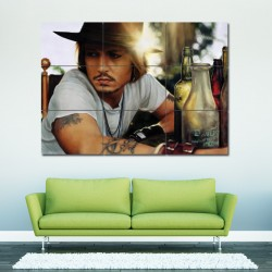 Johnny Depp Block Giant Wall Art Poster (P-0054)