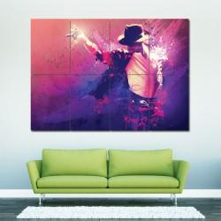 Michael Jackson Block Giant Wall Art Poster (P-0066)