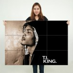T.I. King Block Giant Wall Art Poster