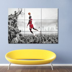 Michael Jordan Block Giant Wall Art Poster (P-0072)