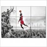 โปสเตอร์ ขนาดใหญ่ ภาพนักกีฬาบาสเกตบอล ไมเคิล จอร์แดน Michael Jordan