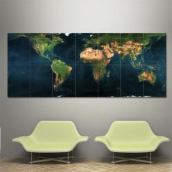 โปสเตอร์ ขนาดใหญ่ ภาพ แผนที่โลก Earth Map (P-0089)