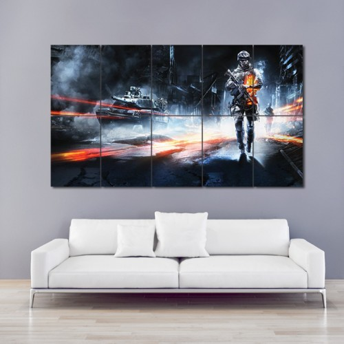 Battlefleld 3 Game Block Giant Wall Art Poster