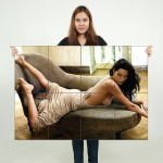 Angelina Jolie Block Giant Wall Art Poster