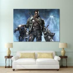 Terminator  Arnold Schwarzenegger Block Giant Wall Art Poster (P-0096)
