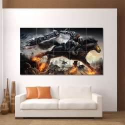 Darksiders Video Game Block Giant Wall Art Poster (P-0097)