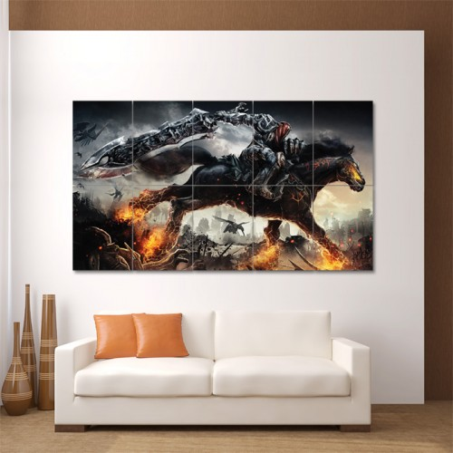 Darksiders Video Game Block Giant Wall Art Poster