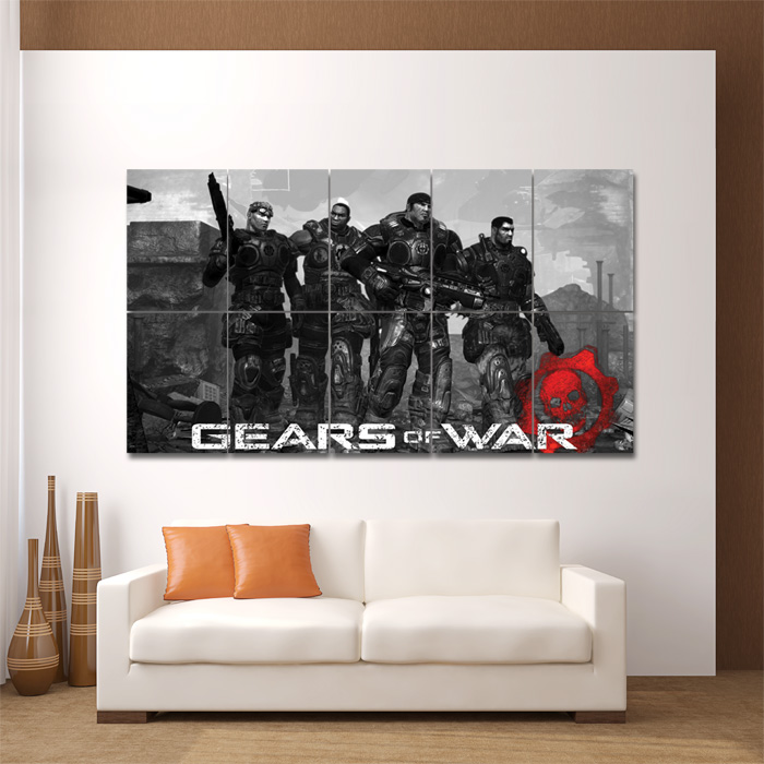 Wall Art Posters gears of war video gamese block giant wall art poster