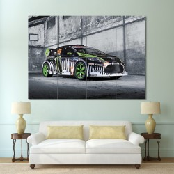 โปสเตอร์ ขนาดใหญ่ ภาพรถ Ken Ford Fiesta เคน ฟอร์ด เฟียสต้า (P-0099)