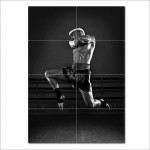 Muay Thai Boxing Flying Knee Block Giant Wall Art Poster