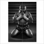 โปสเตอร์ ขนาดใหญ่ ภาพกีฬา รำมวยไทย Ram Muay Thai