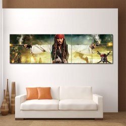 Jack Sparrow Pirates Of The Caribbean Block Giant Wall Art Poster (P-0117)