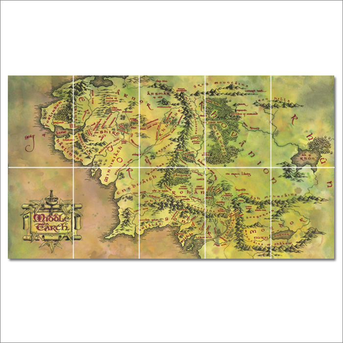 middle earth map block giant wall art poster