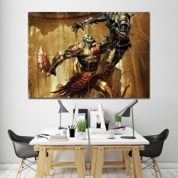 God of War Kratos Wand-Kunstdruck Riesenposter (P-0144)