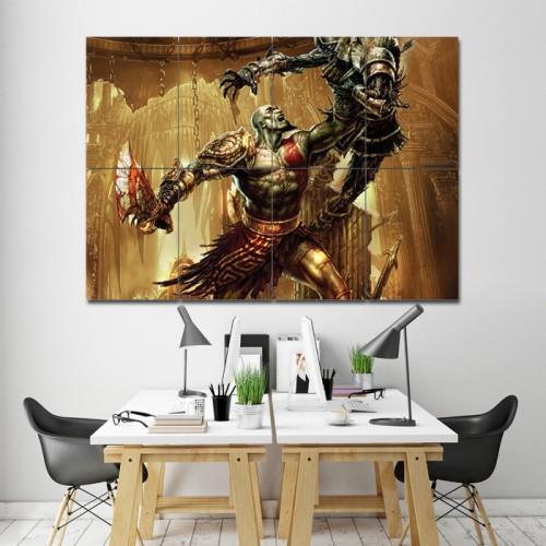 โปสเตอร์ ขนาดใหญ่ God of War Kratos ก็อด ออฟ วอร์