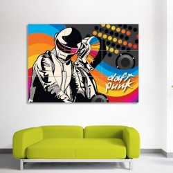 DJ Daft Punk Graphics Block Giant Wall Art Poster (P-0149)