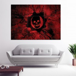 Gears of War Video Gamese  Block Giant Wall Art Poster (P-0150)