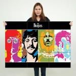 โปสเตอร์ ขนาดใหญ่  วงดนตรี The Beatles  เดอะบีเทิลส์