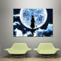 Bleach Rukia Moon Block Giant Wall Art Poster (P-0166)