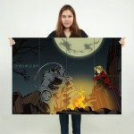 Fullmetal Alchemist indelible sin Block Giant Wall Art Poster