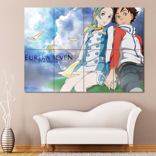 โปสเตอร์ ขนาดใหญ่ ภาพการ์ตูนอนิเมะ ยูเรก้าเซเว่น Eureka Seven