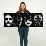 Dark Knight Batman Block Giant Wall Art Poster