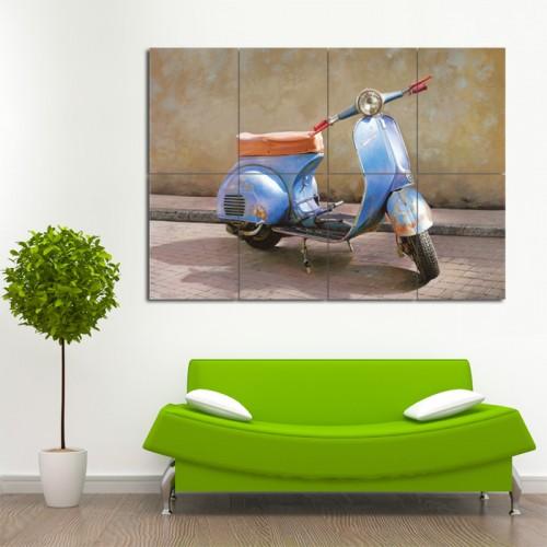 โปสเตอร์ ขนาดใหญ่ ภาพ มอเตอร์ไซค์ เวสป้า Vespa