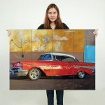 1957 Chevrolet Block Giant Wall Art Poster