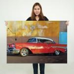 โปสเตอร์ ขนาดใหญ่ ภาพ รถยนต์ 1957 Chevrolet