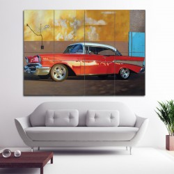 1957 Chevrolet Block Giant Wall Art Poster (P-0198)