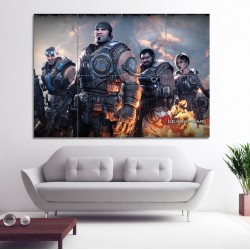 Gears of War Video Gamese  Block Giant Wall Art Poster (P-0221)