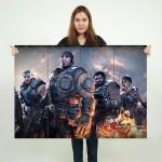 โปสเตอร์ ขนาดใหญ่ เกมส์ Gears of War เกียร์ออฟวอร์