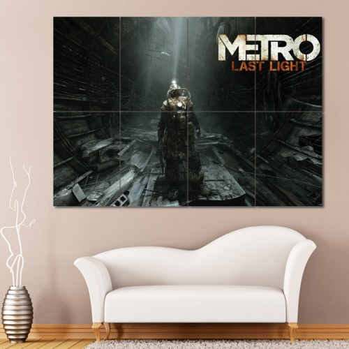 โปสเตอร์ ขนาดใหญ่ เกมส์ Metro Last Light เมโทร ลาสต์ไลต์