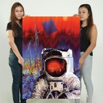 Spaceman Ron Walotsky Block Giant Wall Art Poster