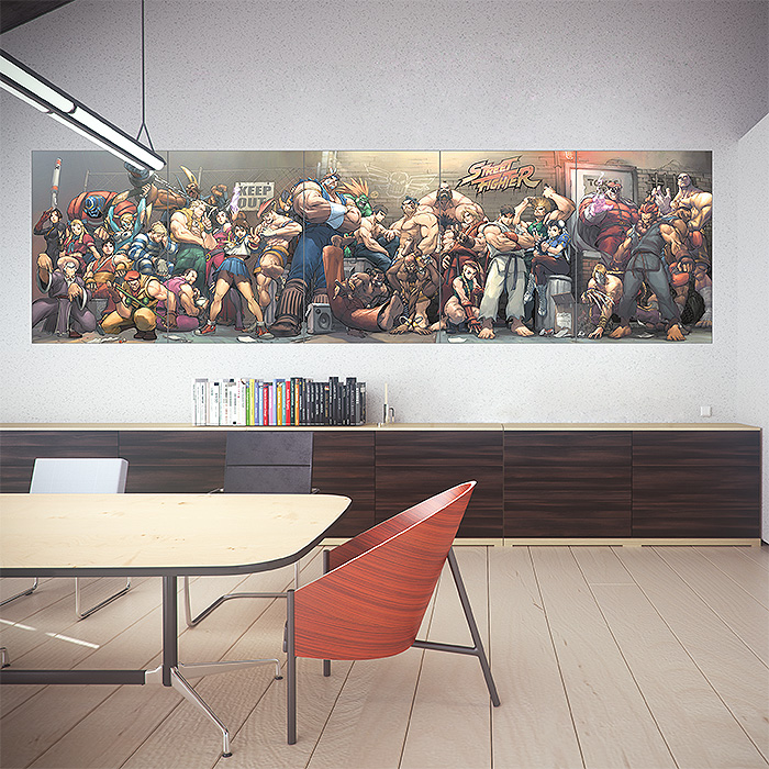 street fighter video games block giant wall art poster