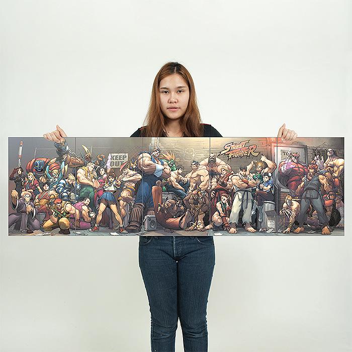 Street Fighter Video Games Block Giant Wall Art Poster