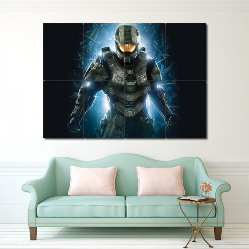 Master Chief  Halo Block Giant Wall Art Poster
