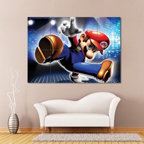 Dance Dance Revolution Mario Mix Block Giant Wall Art Poster